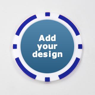 Custom Blue Casino Chip with Image
