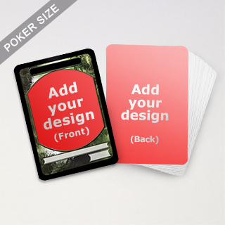 Trading Game Card Template (Green)