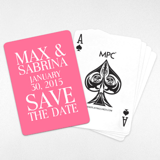 Save-the-Date Custom Back Playing Cards