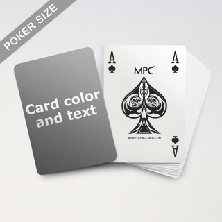 4 Index MPC Playing Cards With Custom Back