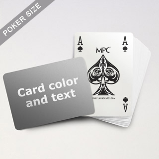 4 Index MPC Playing Cards With Custom Back (Landscape)