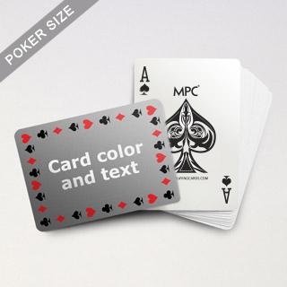 Pips Border MPC Custom Text Poker Deck (Landscape)
