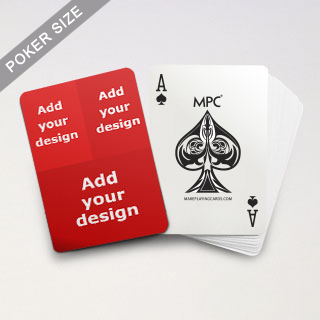 Three Collage Back MPC Custom Playing Cards