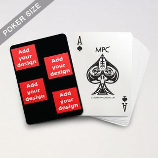 4 Photo Collage Black Back Custom MPC Poker Cards