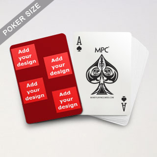 4 Photo Collage Red Back Custom MPC Poker Cards