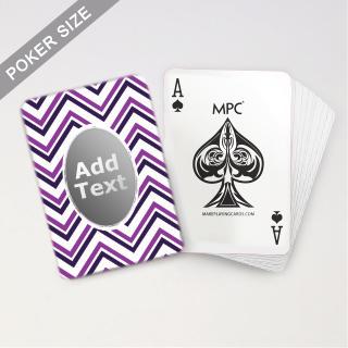 Monogram Pink Chevron Playing Cards