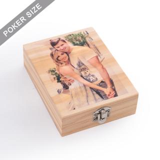 Custom Wooden box for Single deck - UV printing
