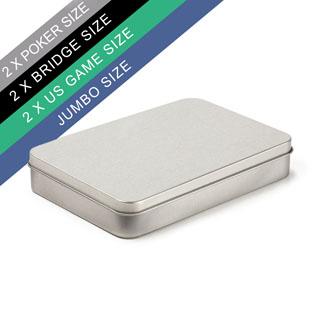 Plain Double Poker/Bridge Tin Box