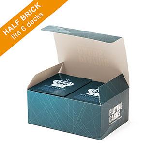 Custom Half Brick Box (flat top) for 6 Decks