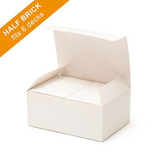 Plain Half Brick Box (flat top) for 6 Decks