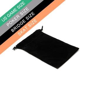 Black Poker Velvet Bag