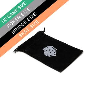 Custom Black Poker Velvet Bag