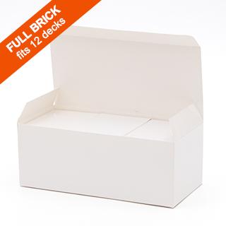 Plain Full Brick Box (flat top) for 12 Decks