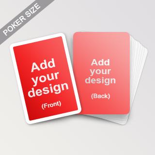 Custom White Border Playing Cards Poker size