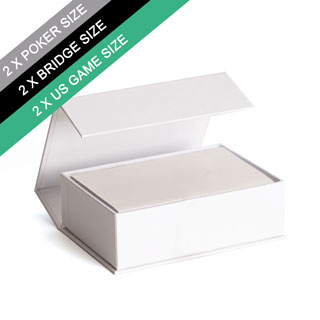 Plain Double Poker Size and Booklet Magnetic Book Box