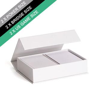 Plain Double Poker Size Magnetic Book Box